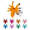 Fülbevaló 925 ezüstből, színes pók nyolc lábbal, stekker