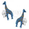 Fülbevaló 925 ezüstből, kék zsiráf világosbarna pontokkal, stekker