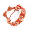 Gyöngyös karkötő - bordó, arany, narancs és kék árnyalat, rombuszok