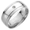 Acélgyűrű - két párhuzamos vájat, gömbölyű cirkónia