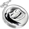 Orvosi fém medál - MEME FACE stílus, vidám kínai arc