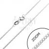 Finom nyaklánc 925 ezüstből - sűrű láncszemek, 1,2 mm