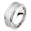 Titán gyűrű - ezüst szín, csillogó, süllyesztett középső sáv