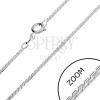 Ezüst nyaklánc - hajlított S elemek, 1,3 mm