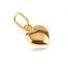 Arany 585 medál - 3D szív fényes felszínnel és bemetszéssel
