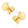 Fülbevaló 14K aranyból - kis tükörfényű alma, beszúrós