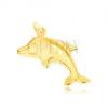 Arany medál - tükörfényes ugró delfin térbeli
