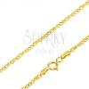Arany nyaklánc - három kis szem, hosszúkás elemek hálóval, 550 mm