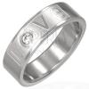 Gyűrű nemesacélból - LOVE és cirkónia