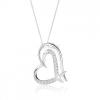925 ezüst nyakék, kettős szabálytalan szívkörvonal, átlátszó cirkóniák
