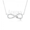 Állítható nyakék - 925 ezüst, medál végtelen szimbólummal, kövek, Love feriat