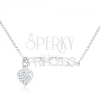 Nyakék 925 ezüstből, átlátszó cirkóniás szív, PRINCESS felirat