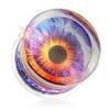 Átlátszó plug fülbe, akril, motívum - színes szem