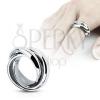 Hármas gyűrű - fényes acél