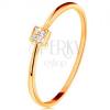 585 sárga arany gyűrű - négyet cirkóniákkal díszítve