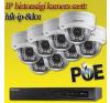 Hikvision 8 dome kamerás 1.3MP PoE IP szett (hik-ip-8d01) megfigyelő kamera