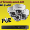 Hikvision 4 dome kamerás 1.3MP PoE IP szett (hik-ip-4d01)