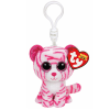 Ty. Plüss figura Beanie Boos Clip 8,5 cm ASIA - fehér tigris