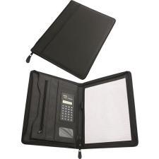 . Konferencia mappa, A4, műbőr, számológéppel, fekete mappa