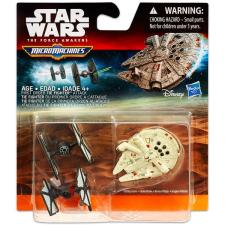 STAR Wars 7 Micromachines: Elsőrendű vadász vs. Millennium Falcon akciófigura