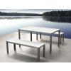 Beliani Alumínium kerti garnitúra - 180 cm-es asztal - 2 pad - Fehér - Polywood - NARDO