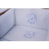 4 részes kék eli prémium babaágynemű szett