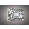 Consalnet sp. z o.o. Lengyelország Szürke 3D alagút, fatábla kép 70x50 cm