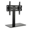Auna auna TV állvány, M méret, 56 cm magas, állítható magasság, 23-47 col, üvegállvány, fekete