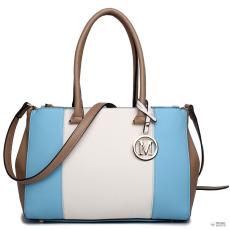Miss Lulu London LM1643 - Miss Lulu Sutton Center csíkos táska kézi táska kék