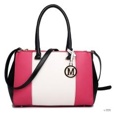 Miss Lulu London LM1643 - Miss Lulu Sutton Center csíkos táska kézi táska Plum