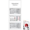 REALSYSTEM 3 tömbös speditőr naptár - Üres, nyomtatható fejrésszel
