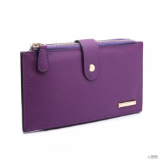 Miss Lulu London LP1690-Miss LuLu női szintetikus bőr gyerek pénztárca pénztárca val 2 Zipper rekeszs for separate Distributionb lila