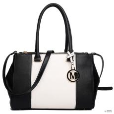 Miss Lulu London LM1643 - Miss Lulu Sutton Center csíkos táska kézi táska fekete