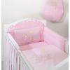 Prémium babaágynemű garnitúra 2 részes hímzett huzat - Nyuszik rózsaszín