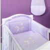 Prémium babaágynemű garnitúra 2 részes hímzett huzat - Nyuszik lila