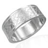 Gyűrű sebészeti acélból - Kelta fonott minta