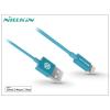 Apple iPhone 5/5S/5C/SE/iPad 4/iPad Mini USB töltő- és adatkábel - 1 m-es vezetékkel (Apple MFI engedélyes) - Nillkin Rapid Lightning - kék