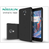 OnePlus 3 (A3000) hátlap - Nillkin Synthetic Fiber - fekete