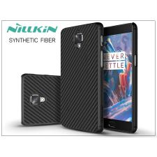 OnePlus 3 (A3000) hátlap - Nillkin Synthetic Fiber - fekete tok és táska