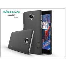 OnePlus 3 (A3000) hátlap képernyővédő fóliával - Nillkin Frosted Shield - fekete tok és táska