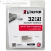 Kingston 32GB Data Traveler MicroDuo 3C USB3.1 + USB Type-C pendrive átlátszó