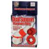 California Exotic Novelties Piros erekciógyűrű - Dual Support