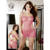 Orion - Mandy Mistery Line Necc rózsaszín nyitott mini ruha S-L
