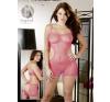 Orion - Mandy Mistery Line Necc rózsaszín nyitott mini ruha S-L fantázia ruha