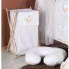 Prémium hímzett szennyes tároló - Álmos maci fehér