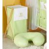 Prémium hímzett szennyes tároló - Felhős maci zöld