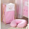 Prémium hímzett szennyes tároló - Álmos maci rózsaszín