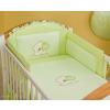 Babaágynemű garnitúra 3 részes hímzett huzat - Szíves maci zöld