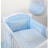 Babaágynemű garnitúra 3 részes hímzett huzat - Nyuszik kék