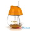 MOMMA rocking cseppmentes szívószálas itatópohár narancssárga 250 ml